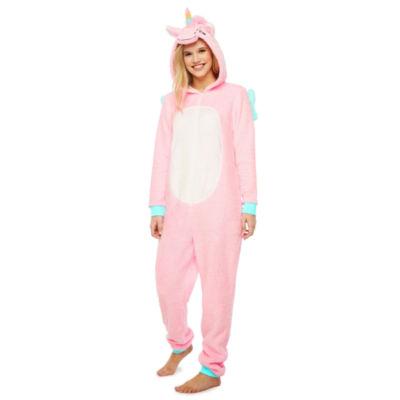 Pink Unicorn Long Sleeve One Piece Pajama