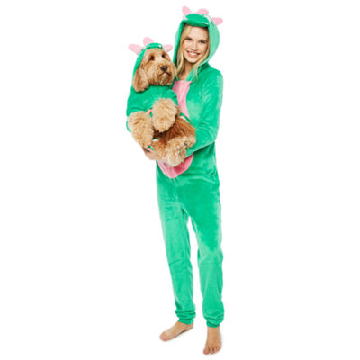 Green Dinosaur Long Sleeve One Piece Pajama