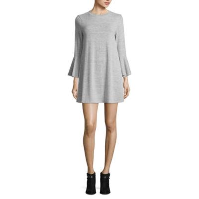 Speechless Long Sleeve A-Line Dress-Juniors