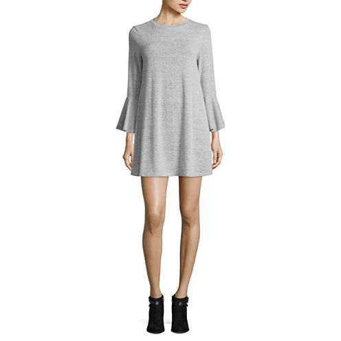 Speechless Long Sleeve A-Line Dress-Juniors