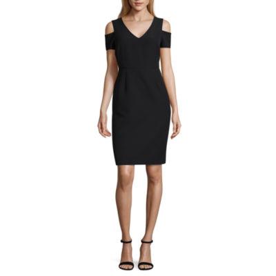 Worthington Short Sleeve Sheath Dress