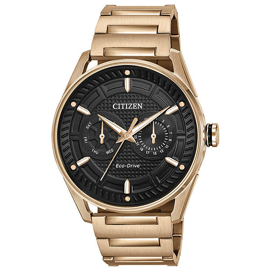 Drive from Citizen Mens Rose Goldtone Stainless Steel Bracelet Watch - Bu4023-54e