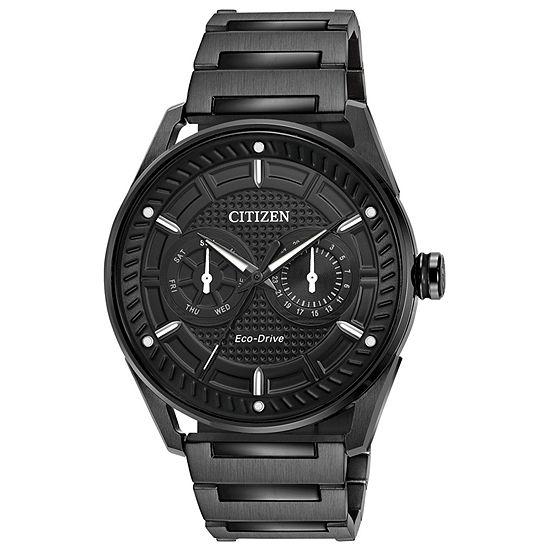 Drive from Citizen Mens Black Stainless Steel Bracelet Watch-Bu4025-59e