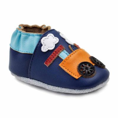 Soft Sole Leather Crib Bootie Baby Shoes - Choo Choo Train