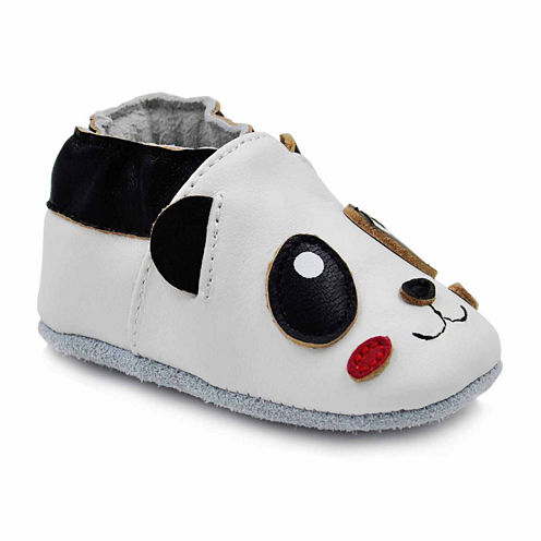 Soft Sole Leather Crib Bootie Baby Shoes - Panda