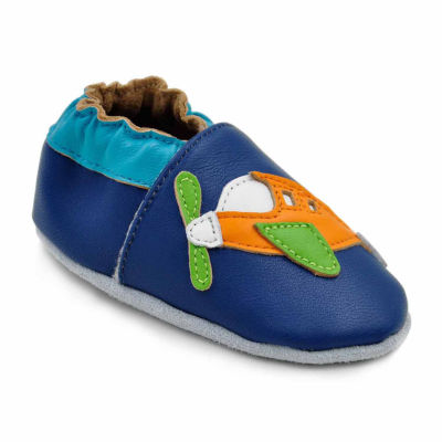 Soft Sole Leather Crib Bootie Baby Shoes - Fly Away