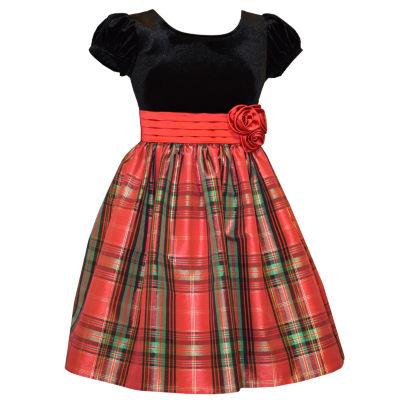 Bonnie Jean Short Sleeve Party Dress - Preschool Girls