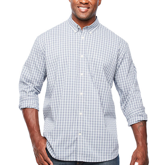The Foundry Big Tall Supply Co Mens Long Sleeve Button Front Shirt Big And Tall