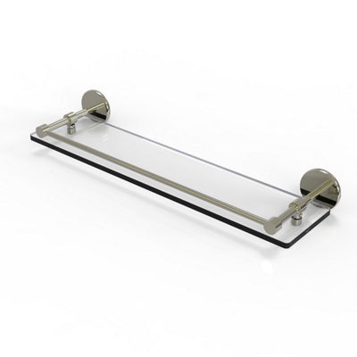 Allied Brass 22 IN Tempered Glass Shelf With Gallery Rail