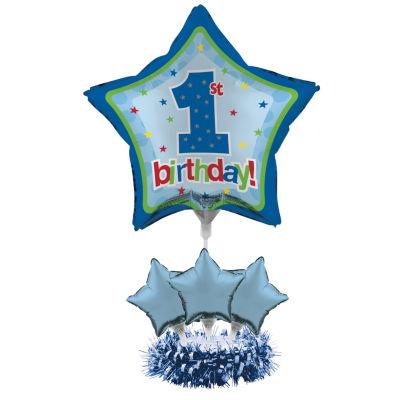 Creative Converting 1st Birthday Boy Balloon Centerpiece