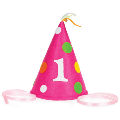Creative Converting 1st Birthday Girl Felt Hat
