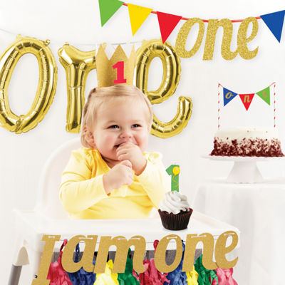 Creative Converting 1st Birthday Party Decorations Kit
