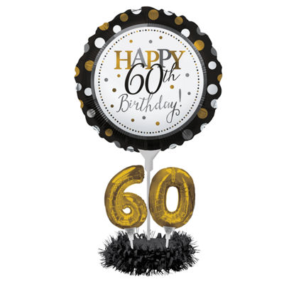 Creative Converting 60th Birthday Balloon Centerpiece Kit