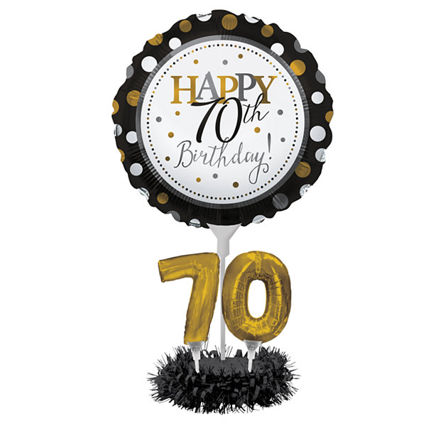 Creative Converting 70th Birthday Balloon Centerpiece Kit