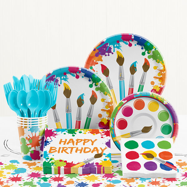 Creative Converting Art Birthday Party Supplies Kit