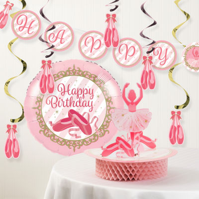 Creative Converting Ballet Birthday Party Decorations Kit