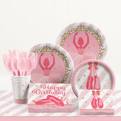 Creative Converting Ballet Birthday Party Supplies Kit