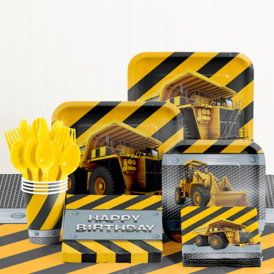 Creative Converting Birthday Zone Construction Birthday Party Supplies Kit