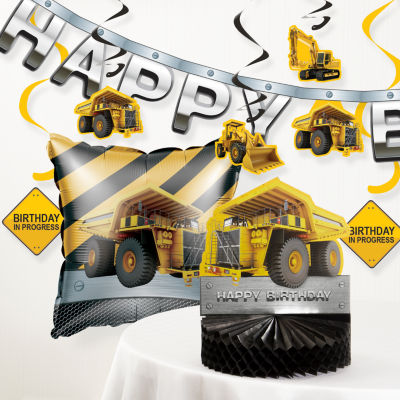 Creative Converting Birthday Zone Construction Party Decorations Kit