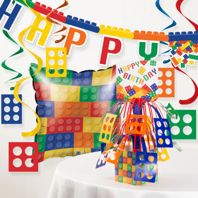 Creative Converting Block Birthday Party Decorations Kit