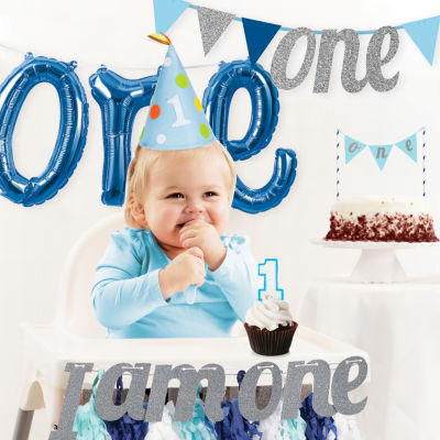 Creative Converting Boy's 1st Birthday Party Decorations Kit