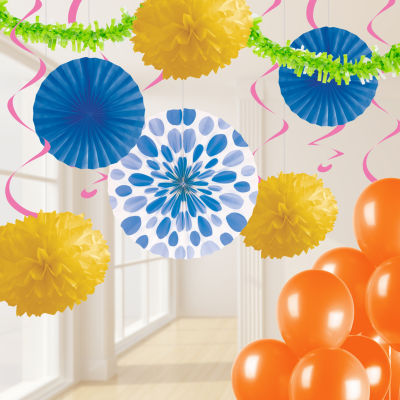 Creative Converting Bright Party Decorations Kit