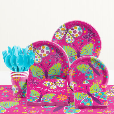 Creative Converting Butterfly Birthday Party Supplies Kit
