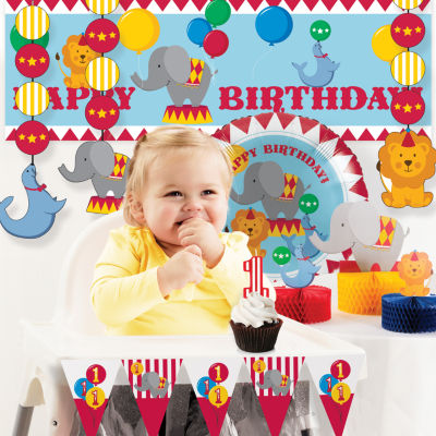 Creative Converting Circus 1st Birthday Party Decorations Kit