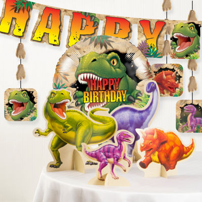 Creative Converting Dinosaur Birthday Party Decorations Kit