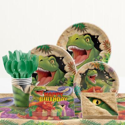 Creative Converting Dinosaur Birthday Party Supplies Kit