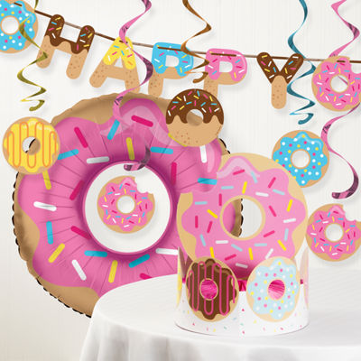 Creative Converting Donut Time Birthday Party Decorations Kit