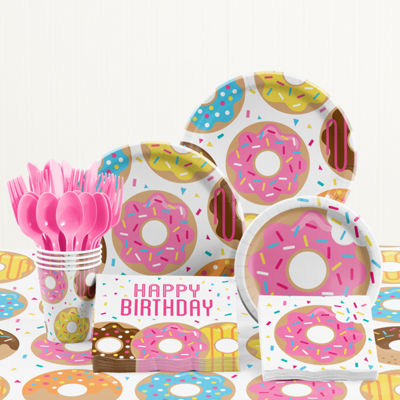 Creative Converting Donut Time Birthday Party Supplies Kit