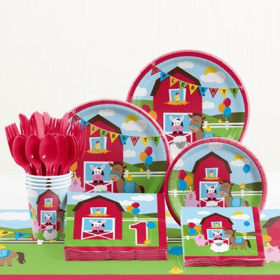 Creative Converting Farm Fun Birthday Party Supplies Kit