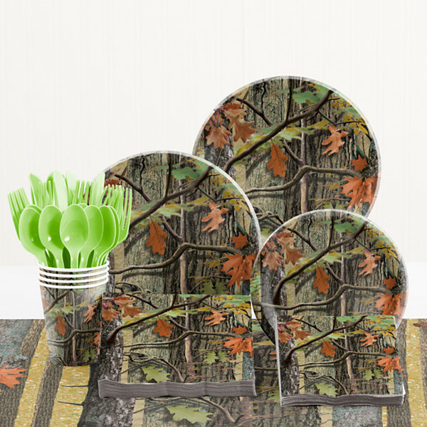 Creative Converting Hunting Camo Birthday Party Supplies Kit