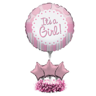 Creative Converting It's a Girl Balloon Centerpiece Kit