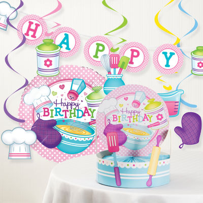 Creative Converting Little Chef Birthday Party Decorations Kit