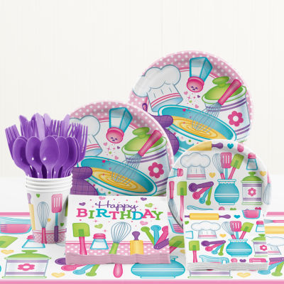 Creative Converting Little Chef Birthday Party Supplies Kit