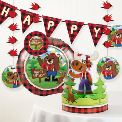 Creative Converting Lum-Bear Jack Birthday Party Decorations Kit