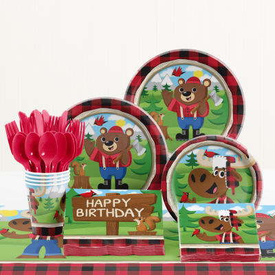 Creative Converting Lum-Bear Jack Birthday Party Supplies Kit
