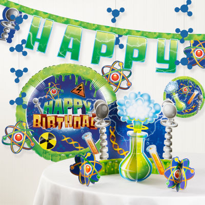 Creative Converting Mad Scientist Birthday Party Decorations Kit
