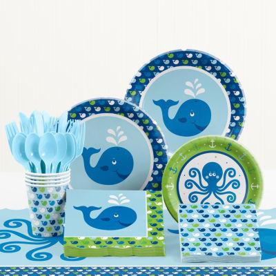Creative Converting Ocean Preppy Birthday Party Supplies Kit