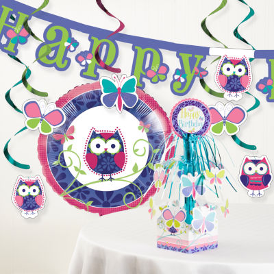 Creative Converting Owl Pal Birthday Party Decorations Kit