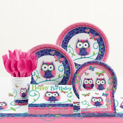 Creative Converting Owl Pal Birthday Party Supplies Kit