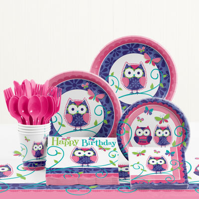 Creative Converting Owl Pal Birthday Party Supplies Kit