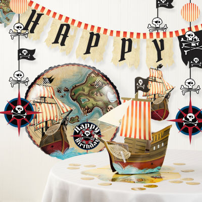 Creative Converting Pirate's Map Birthday Party Decorations Kit