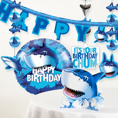 Creative Converting Shark Splash Birthday Party Decorations Kit