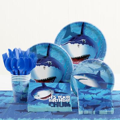 Creative Converting Shark Splash Birthday Party Supplies Kit