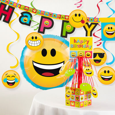 Creative Converting Show Your Emojions Birthday Party Decorations Kit