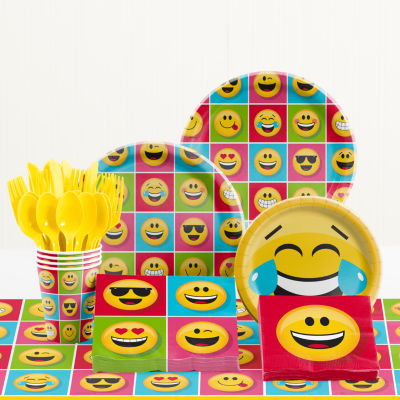 Creative Converting Show Your Emojions Birthday Party Supplies Kit