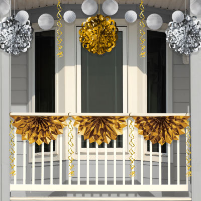 Creative Converting Silver and Gold Foil Decorations Kit